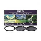 Hoya 55mm Digital Filter Kit II - UV / Polarising / ND8 Filters + Case