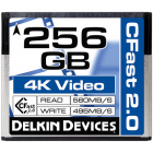 Delkin Devices 256GB CFast 2.0 Memory Card (560MB/s Read 495MB/s Write)
