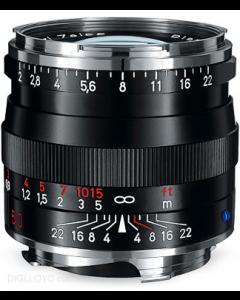 Zeiss 50mm f2 Planar T* ZM Leica M Mount Lens: Black