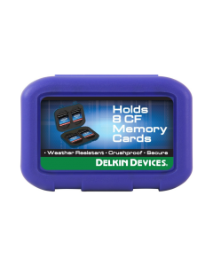 Delkin Devices Weather Resistant Tote Case for 8 Compact Flash Memory Cards