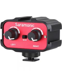 Saramonic SR-AX100 Passive 2-Channel Audio Mixer Adapter for DSLR Cameras