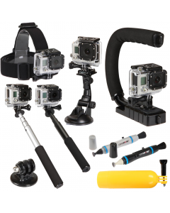 Sunpak Ultimate 9 Piece Gopro Action Camera Accessory Kit