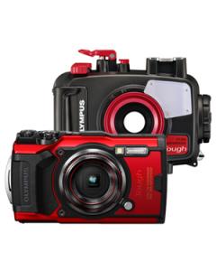 Olympus Tough TG-6 Digital Camera and PT-059 Waterproof Housing Kit - Red