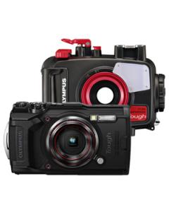 Olympus Tough TG-6 Digital Camera and PT-059 Waterproof Housing Kit - Black