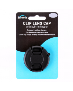 Summit 58mm Clip On Lens Cap With Cap Keeper