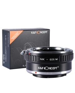 K&F Concept Nikon F to Canon EOS M Lens Mount Adapter - KF06.122