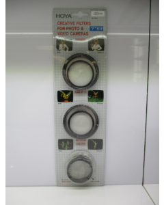 Hoya 46mm Creative Filter Set F Kit - Diffuser + Close Up +3 + Multivision