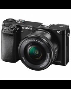 Sony Alpha A6000 Digital Camera with 16-50mm Power Zoom Lens - Black