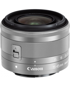 Canon EF-M 15-45mm f3.5-6.3 IS STM Lens - Silver: White Box