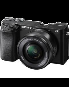 Sony Alpha A6100 Digital Camera with 16-50mm Lens - Black