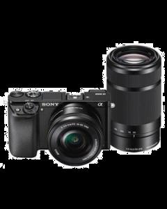 Sony Alpha A6000 Digital Camera with 16-50mm & 55-210mm Lenses - Black