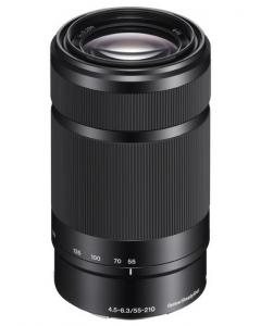 Sony E 55-210mm f4.5-6.3 OSS E-mount Lens - Black