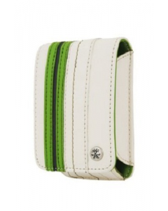 Crumpler Gofer Royale 35 Leather Compact Camera Case -  Off White / Dark Green