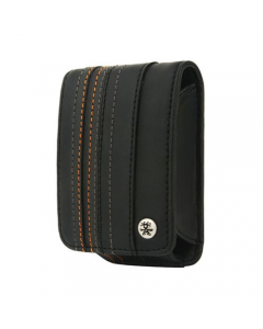 Crumpler Gofer Royale 35 Leather Compact Camera Case - Dull Black / Dark Grey