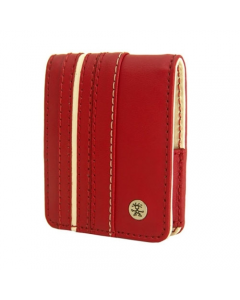 Crumpler Gofer Royale 35 Leather Compact Camera Case - Dark Red / White