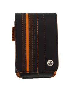 Crumpler Gofer Royale 55 Leather Compact Camera Case - Dark Brown / Dark Orange