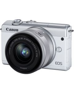 Canon EOS M200 Digital Camera with 15-45mm F3.5-6.3 IS STM Lens: White