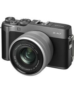 Fujifilm X-A7 Digital Camera with  XC 15-45mm Lens - Dark Silver