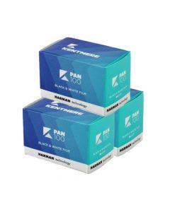 Kentmere Pan ISO 100 Black & White 36 Exposure 35mm Film - 3 Pack