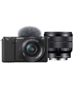 Sony Alpha ZV-E10 Digital Camera with 16-50mm & 10-18mm Lenses