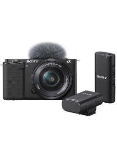 Sony Alpha ZV-E10 Digital Camera with 16-50mm Lens & Wireless Microphone