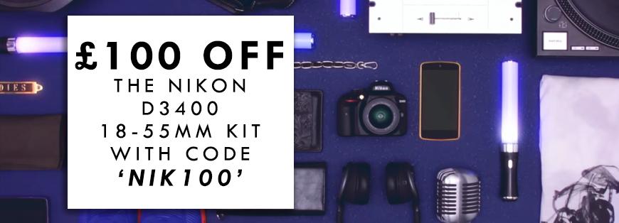 £100 OFF Nikon D3400