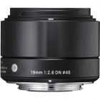 Sigma 19mm f2.8 DN Black Art Series Lens: SONY E MOUNT CA2564