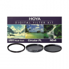 Hoya 55mm Digital Filter Kit II - UV / Polarising / ND8 Filters + Case