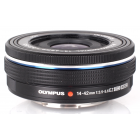 Olympus 14-42mm EZ Zoom Lens - Black: White Box
