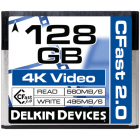 Delkin Devices 128GB CFast 2.0 Memory Card (560MB/s Read 495MB/s Write)