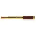 Helios 10-30x30 Admiral Brass Leatherette Traditional Zoom Draw Telescope