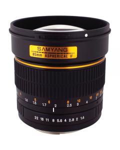 Samyang 85mm F1.4 Aspherical IF MC Lens: NIKON CA2549