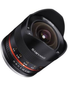 Samyang 8mm f2.8 Aspherical ED UMC II Fisheye Lens - Sony E Mount (Black)