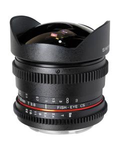 Samyang 8mm T3.8 Asph IF MC Fisheye CS VDSLR Lens: CANON