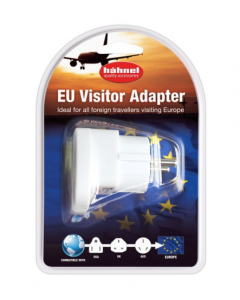 Hahnel European Mainland Visitor Power Plug Adapter