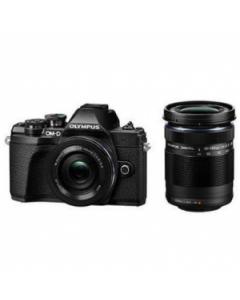 Olympus OM-D E-M10 Mark III Digital Camera Twin Lens Kit - Black