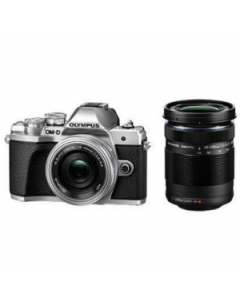 Olympus OM-D E-M10 Mark III Digital Camera Twin Lens Kit - Silver