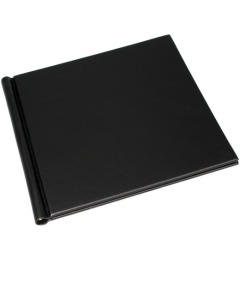 PermaJet SnapShut Folio Black Leather A5 - 25mm Spine