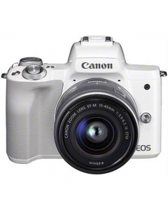 Canon EOS M50 Mirrorless Digital Camera with 15-45mm IS STM Lens - White