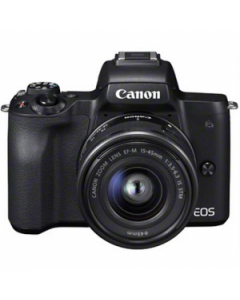 Canon EOS M50 Mirrorless Digital Camera with 15-45mm IS STM Lens - Black