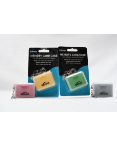 Summit Memory Card  Case for SD / Micro SD Key Ring - Yellow