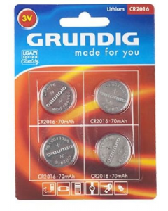 Grundig Lithium CR2016 Single Button Cell Battery