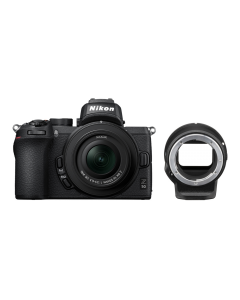 Nikon Z50 Digital Mirrorless Camera with 16-50mm VR lens and FTZ Mount Adapter