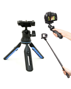 Slik Multi-Pod 3x4 Mini Camera Tripod & Selfie Stick with Smartphone Holder