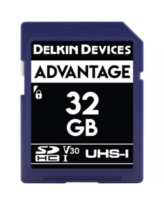 Delkin Devices Advantage 32GB SD UHS-I V30 Memory Card