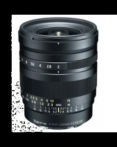 Tokina Firin 20mm F2 MF Manual Focus Lens - Sony FE mount