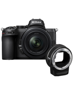 Nikon Z5 Digital Mirrorless Camera with 24-50mm Lens and FTZ Mount Adapter