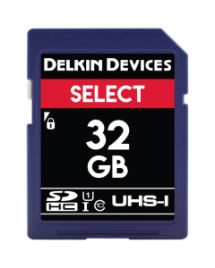 Delkin Devices Select 32GB V10 UHS-I SDHC Memory Card (Read 100MB/s Write 30MB/s)