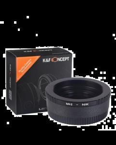 K&F Concept M42 to Nikon F Lens Mount Adapter With Glass Optics - KF06.119