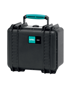 HPRC 2250 Hard Waterproof Case With Cubed Foam - Black / Turquoise